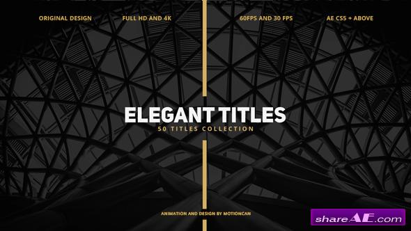 Videohive 50 Elegant Titles