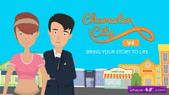 Videohive Explainer Video ToolKit : Character City V4