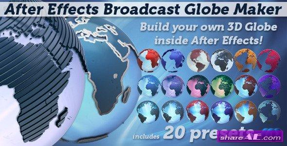 Videohive Broadcast Globe Maker