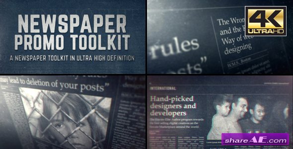 Videohive Newspaper Promo Toolkit