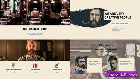 Videohive Barber Shop Presentation