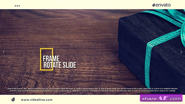 Videohive Frame Rotate Slide