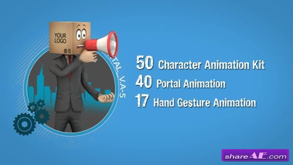 Videohive Businessman Cardboard Head Promot