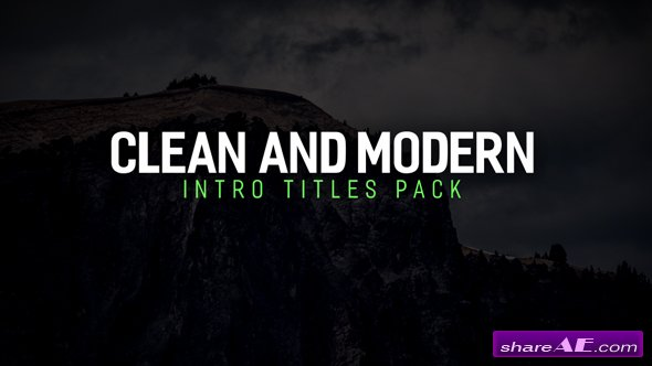 Videohive Modern Intro Titles Pack