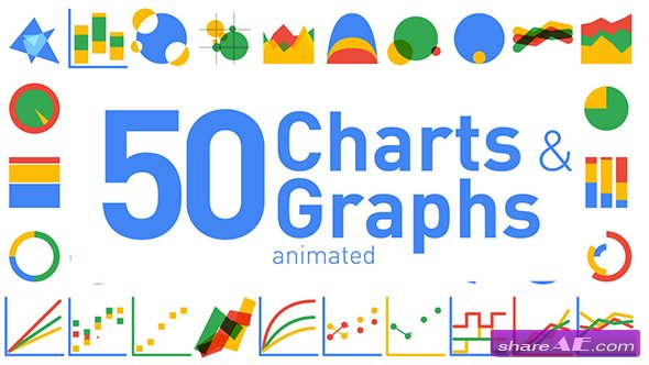 Videohive 50 Animated Charts & Graphs
