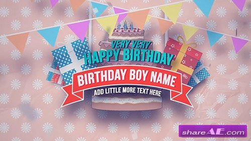 Happy Birthday Slideshow - After Effects Project (Motion Array)