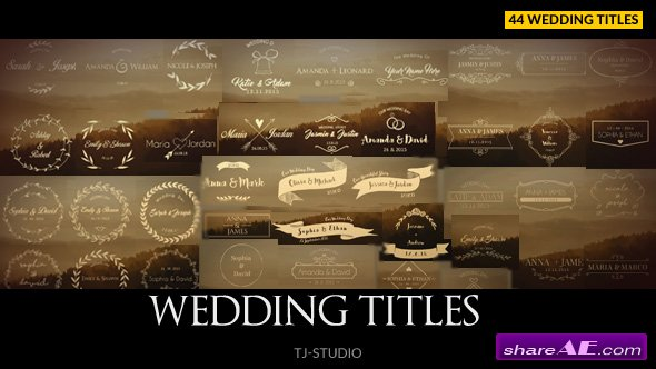 Videohive Wedding Titles 17622074