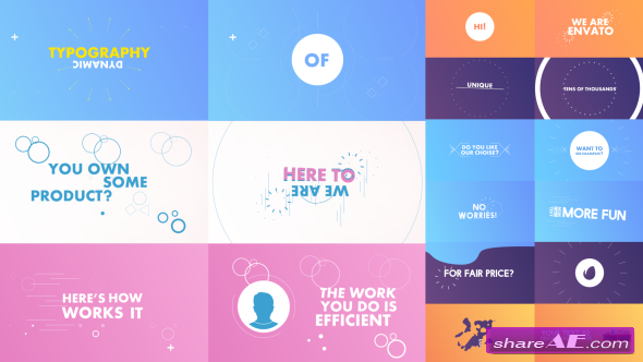 Videohive Dynamic/Kinetic Typography Pack