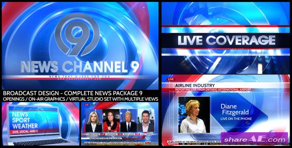 Videohive Broadcast Design - Complete News Package 9