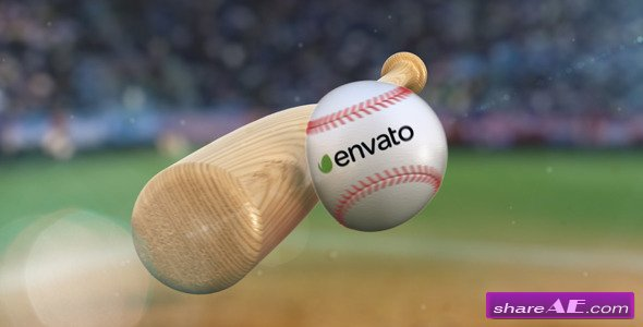 Videohive Baseball Hit Logo