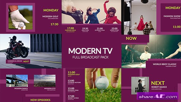 Videohive Modern TV - Full Broadcast Pack