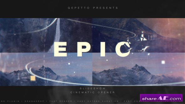 Videohive Epic Slideshow I Cinematic Opener
