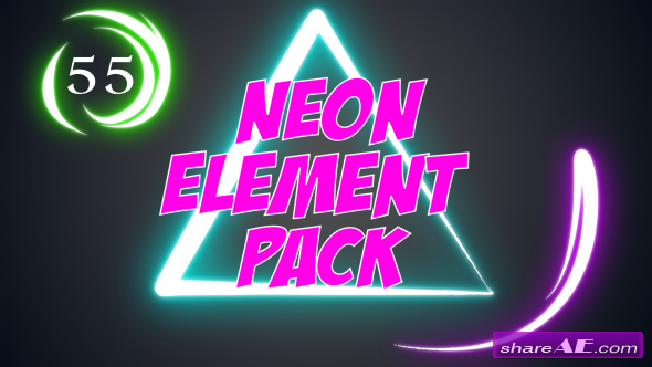 Videohive Neon Element Pack
