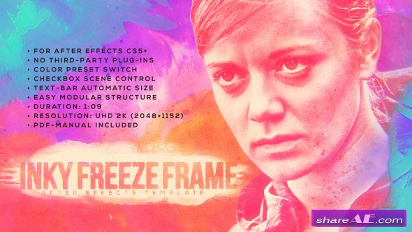 Videohive Inky Freeze Frame