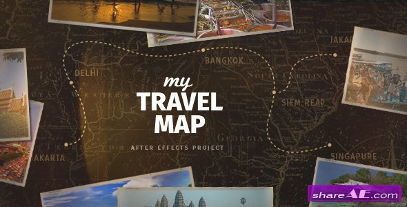 Videohive My Travel Map
