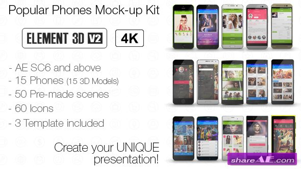 Videohive Popular Phones Mock-up Kit