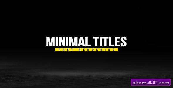 Videohive Minimal Titles Pack