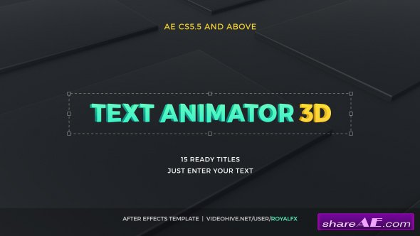 Videohive Text Animator 03: 3D Corporate Titles