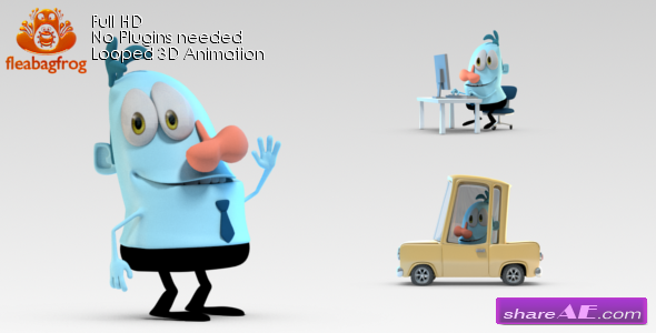 Videohive Selfie Logo with 3D Character » free after effects