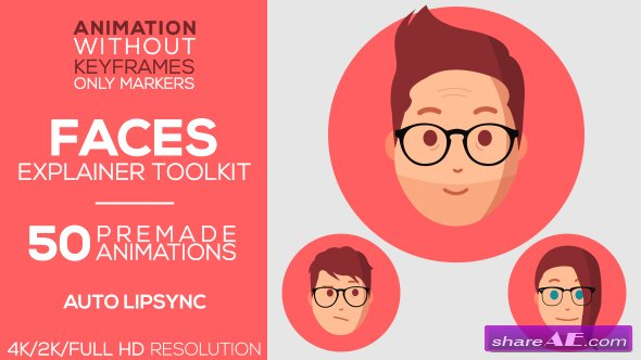 Videohive Faces | Explainer-Toolkit
