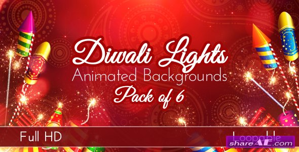 Videohive Diwali Lights Backgrounds - Motion Graphics