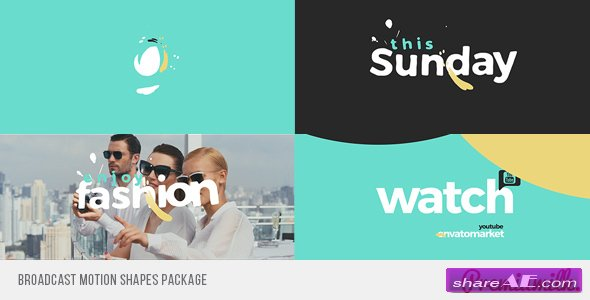 Videohive Broadcast Motion Shapes Package