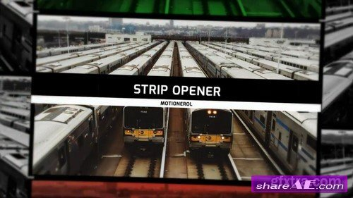 Strip Slideshow / Opener - After Effects Template (Motion Array)