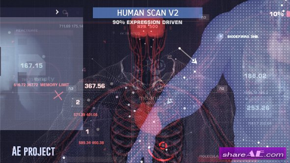 Videohive Human Scan V2