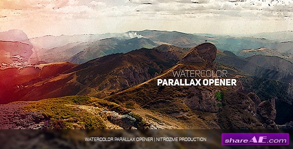 Videohive Watercolor Parallax Opener