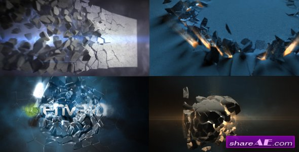 Videohive Epic Destruction Logo Reveals 6 in 1