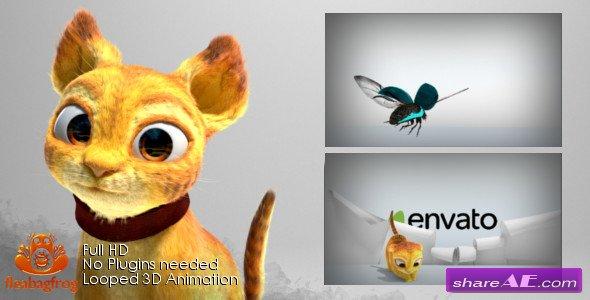 Videohive Cat Logo Reveal