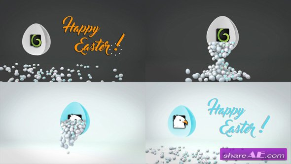 Videohive Happy Easter Logo Reveal
