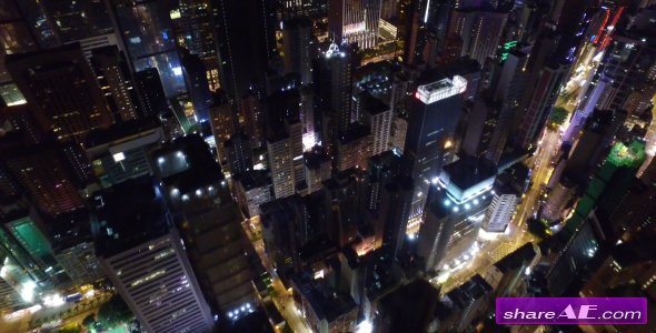 Aerial View Of City At Night - Stock Footage (Videohive)