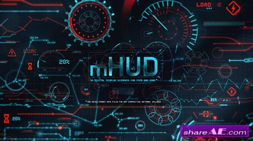 mHUD: 50 Digital Display Elements (motionVFX)