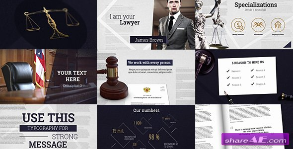 Videohive Law & Order - Legal Presentation