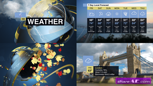 Videohive Weather Forecast Pack
