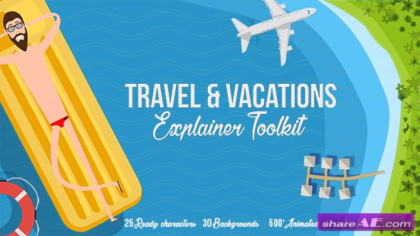 Videohive Travel & Vacations Explainer Toolkit