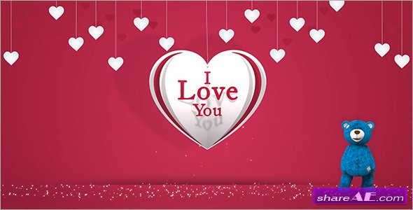 Videohive Valentine Heart Gift Card
