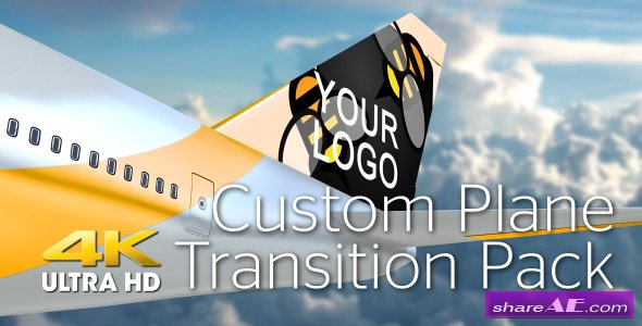 Videohive Plane Transition Pack 4K