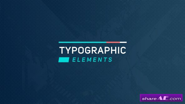 Videohive Typographic Elements 2