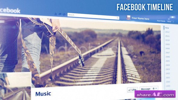 Videohive Facebook Timeline - Apple Motion Templates