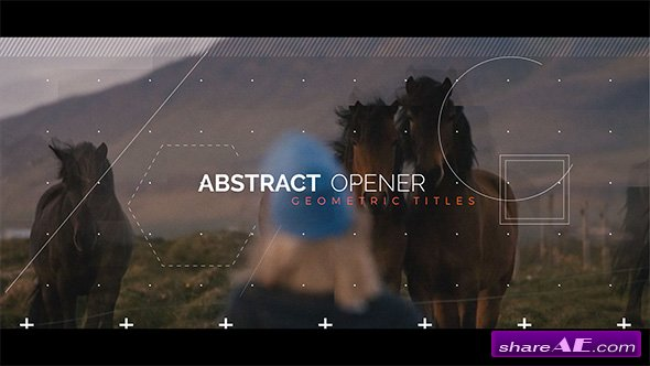 Videohive Abstract Opener - Geometric Titles