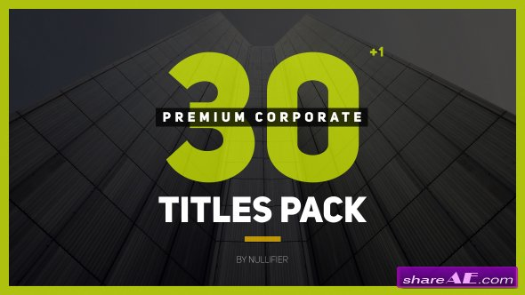 Videohive 30+1 Premium Corporate Titles Pack