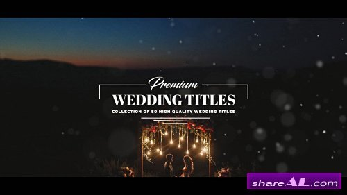 premium wedding titles after effects template motion array