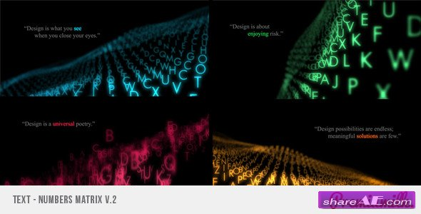 Videohive Text Matrix