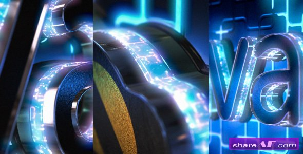 Videohive Neon Logo Reveal with Cube Tunnel