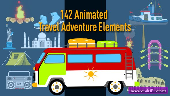 Videohive Animated Travel Adventure Elements