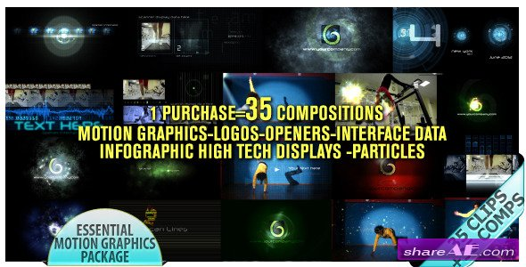 Videohive Motion Graphics Displays And Particles Bundle Pack
