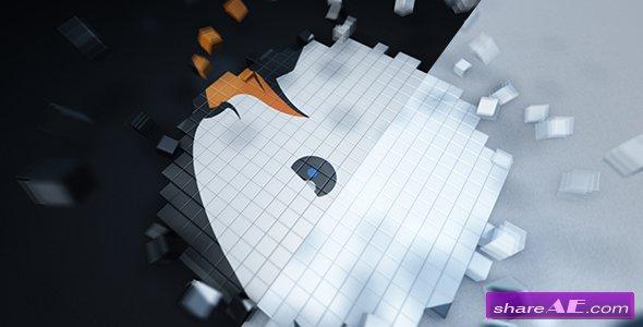 Videohive Pixel Cube Logo Reveal