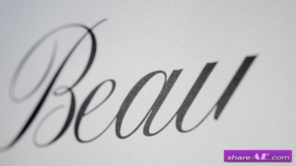 Videohive Beauty - Animated Handwriting Font